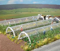Busch Clear Plastic Plant Tunnels - Kit - 7-7/8 x 1-3/4 HO Scale Model Railroad Building #1399