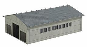 Busch Concrete Cow Barn - Kit - 6-7/8 x 4-7/8 x 2-3/8 HO Scale Model Railroad Building #1410