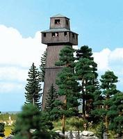 Busch Observation Tower - Kit - 3 x 2-13/16 x 10 HO Scale Model Railroad Building #1435