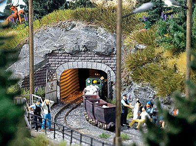 Mine Entrance 2 Rail 95 X 43cm HO Scale Model Railroad