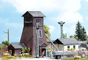 Busch Mine Head Kit HO Scale Model Railroad Building #1476