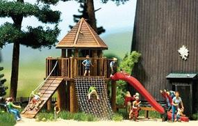 Busch Play Castle Kit HO Scale Model Railroad Building #1487