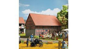 Busch Half-Timbered Barn w/ Small Stable Kit HO Scale Model Railroad Building #1506