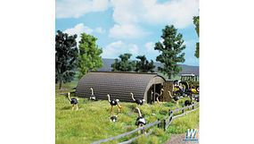 Busch Round Roof Barn HO Scale Model Railroad Building #1513