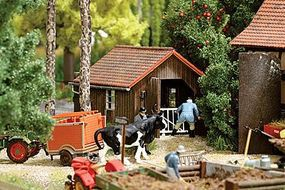 Busch 1920s Livestock Scale House - Kit (Laser-Cut Wood) HO Scale Model Railroad Building #1517