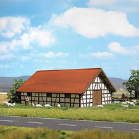Busch Sheep Shelter Kit HO Scale Model Railroad Building #1519
