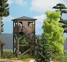 Busch Observation Tower Laser-Cut Wood Kit HO Scale Model Railroad Building #1585