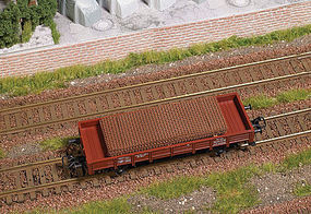 Busch Rusted Steel Mats Load HO Scale Model Train Freight Car Load #1682