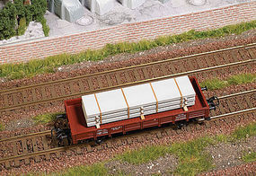 Busch Cement Slabs Load HO Scale Model Train Freight Car Load #1683