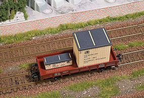 Busch GDR Wooden Crates Load HO Scale Model Train Freight Car Load #1684
