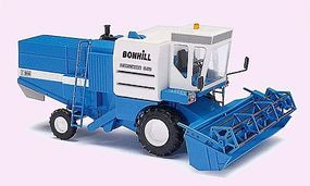 Busch 1982 Fortschritt E 514 Farm Combine w/Trailer Bonhill HO Scale Model Railroad Vehicle #40172