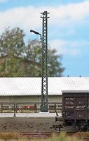 Busch Industrial Lattice-Mast Lamp - 4-1/8 10.5cm Tall HO Scale Model Railroad Roadway Light #4150