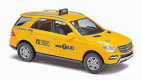 Busch 2011 Mercedes-Benz ML Klasse W166 New York City Taxi HO Scale Model Railroad Vehicle #43314