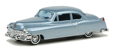 Busch 52 Cadillac silver/blue HO Scale Model Railroad Vehicle #43433