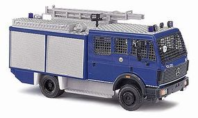 Busch 1988 Mercedes-Benz SK88 Emergency Truck Police HO Scale Model Railroad Vehicle #43857