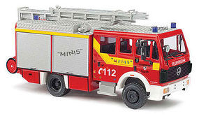 Busch MB MK 88 125 Fire Truck HO Scale Model Railroad Vehicle #43859