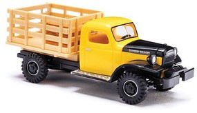 Busch 1945-1968 Dodge Power Wagon 4x4 Stakebed Truck w/Crate Load Assembled Yellow, Black