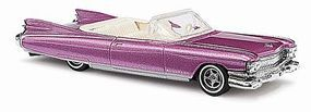 Busch 1959 Cadillac Eldorado Convertible (Metallica Rose) HO Scale Model Railroad Vehicle #45104