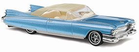 Busch 1959 Cadillac Eldorado Convertible (Metallica Blue) HO Scale Model Railroad Vehicle #45105