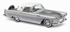 Busch 1956 Ford Thunderbird Hard Top Metallic Silver HO Scale Model Railroad Vehicle #45200