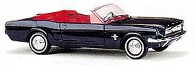 Busch 1964 Ford Mustang Convertible Top Down, Various Colors HO Scale Model Railroad Vehicle #47500