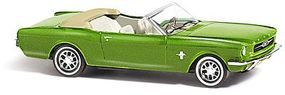Busch 1964 Ford Mustang Convertible Top Down (Metallic green) HO Scale Model Railroad Vehicle #47512