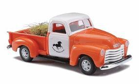 Busch 1950 Chevrolet Pickup Truck With Hay Load HO Scale Model Railroad Vehicle #48225