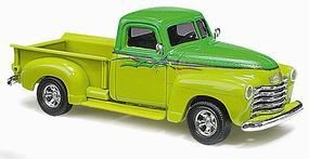 Busch 1950 Chevrolet Pickup Truck Deluxe (2-Tone Green) HO Scale Model Railroad Vehicle #48229