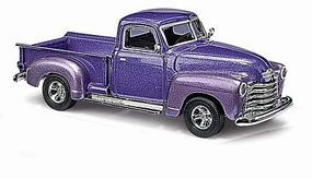 Busch 1950 Chevrolet Pickup Truck Metallic Violet HO Scale Model Railroad Vehicle #48233