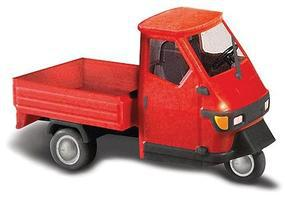 Busch 2006 Piaggio Ape 50 3-Wheel Pickup Truck Various Colors HO Scale Model Railroad Vehicle #48450