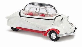 Busch 1955 Messerschmitt KR200 3-Wheeled Kabinenroller HO Scale Model Railroad Vehicle #48810