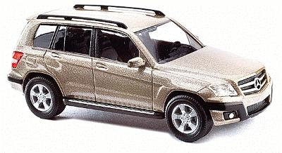 2009 mercedes benz glk klasse suv beige ho scale model for Mercedes benz suv models list