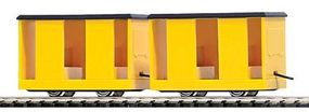 Busch Mining Personnel Carrier Car 2-Pack Yellow (2) HO Scale Model Train Freight Car #5026
