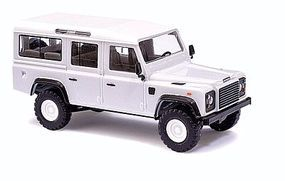 Busch 1983 Land Rover Defender SUV - Assembled - White HO Scale Model Railroad Vehicle #50300