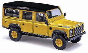 Busch Land Rover Dfndr 1983 gold HO Scale Model Railroad Vehicle #50356
