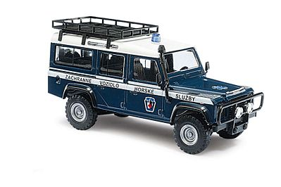 Busch 1983 Land Rover Defender SUV w/Solid-Side Roof Rack HO Scale Model Railroad Vehicle #50386