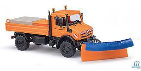 Busch MB Unimog U 5023 with Plow HO Scale Model Railroad Vehicle #51016