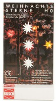 Busch Illuminated Stars Wht 3/ - HO-Scale (3)