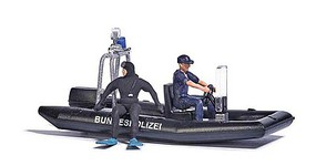 Busch Lake with Animated Police Boat 14-16V, 6-5/16 x 7-1/16 26 x 18cm
