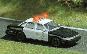 Busch Dodge Police with Lights HO Scale Model Railroad Vehicle #5629
