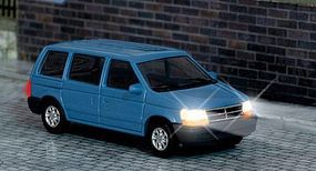 Busch Chrysler Voyager Van w/Working Headlights & Taillights HO Scale Model Railroad Vehicle #5657