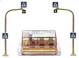 Busch Pedestrian Crossing Set HO Scale Model Railroad Road Accessory #5916