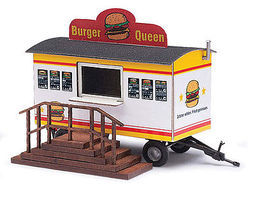 Busch Trailer Burger Queen HO Scale Model Railroad Vehicle #59936