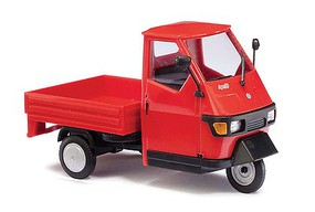 Busch Piaggio Ape 50 w/Bed red - O-Scale