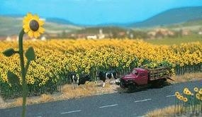 Busch Sunflower Field - Parts for 60 Flowers w/Bases (60) HO Scale Model Railroad Grass Earth #6003