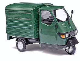 Busch 2006 Piaggio Ape 50 3-Wheel Green Pickup Truck O Scale Model Railroad Vehicle #60051