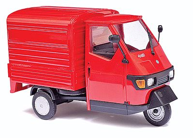 Busch Gmbh 2006 Piaggio Ape 50 3-Wheel Red Pickup Truck -- O Scale Model Railroad Vehicle -- #60052