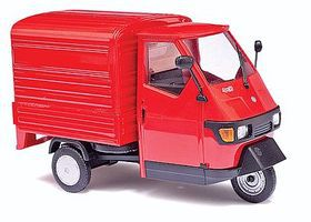 Busch 2006 Piaggio Ape 50 3-Wheel Red Pickup Truck O Scale Model Railroad Vehicle #60052