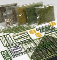 Busch Forest/Meadow Starter Set HO Scale Model Railroad Grass Earth #6043
