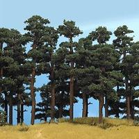 Busch Pine Trees - 5-1/8 & 5-3/4 HO Scale Model Railroad Tree #6141